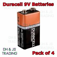 4x Duracell Duralock 9V Alkaline Batteries Battery Smoke Alarm MN1604 / PP3