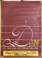 Affiche Originale 1973 ✤ DOM JUAN ✤ Théâtre / Comédie des Alpes / Chambéry