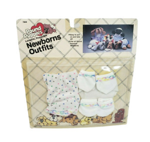 VINTAGE 1986 POUND PUPPIES NEWBORNS OUTFIT DOG CLOTHING SEALED PACKAGE HEARTS