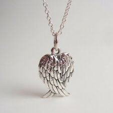 Angel Wings Silver Chain Necklace Folded Wings Pendant Griever Necklace Jewelry