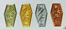 Set of 8 Klingon Darsek Coins-Gold-Silver-Bronze-Copper-Great Detail-Poker Chips