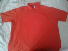 BIG Men's Size 3x Pre-Owned Orange ROCAWEAR Collared Polo Shirt