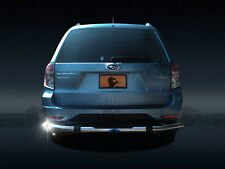 2009-2013 Subaru Forester Rear Bumper Guard Protector Stainless BY Black Horse