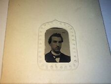 Antique Victorian American Handsome Man, Philadelphia, PA! Old Tintype Photo!