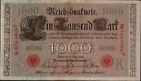 1910 German Empire Huge 1000 Mark Banknote RED SEAL P-44b