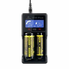 XTAR VC2 PLUS Intelligentes LCD Premium Li-Ion/Ni-MH 2 Kanal Ladegerät 18650