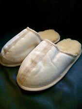 HERREN LAMMFELL HAUSSCHUHE Pantoffeln MED. GEGERBT Naturprodukt RELUGAN GR. 42