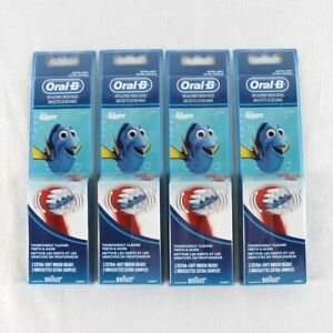 Oral B Finding Dory Replacement Brush Heads Lot of 4 Packs of 2 Extra Soft Kids