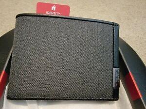 Tumi Alpha SLG ID Lock Double Billfold Bifold Wallet Anthracite Black-New in Box