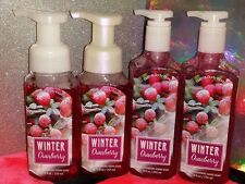 Bath & Body Works Winter Cranberry Lot 4 Hand Soaps-2 Foaming & 2 Deep Cleansing