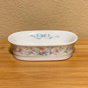 Princess House Exclusive Porcelain Floral Ribbon Soap Dish, Cup **YOUR CHOICE**