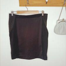 PORTMANS size 14 skirt studs studded detail black office business cocktail party
