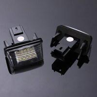 2 pcs 18 LED SMD Numero de plaque d'immatriculation de la lampe pour Peugeo J5W1