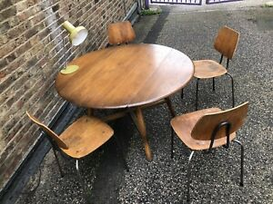 Ercol Drop Leaf Vintage Mid Century Dining Table