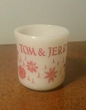 VINTAGE FIRE KING TOM AND JERRY SNOWFLAKE HANDLE PUNCH MUG CHRISTMAS - MINT