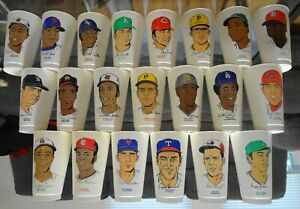 1972 7-11 Slurpee Baseball Cups COMPLETE SET of 60 (20 HOF) 7 Eleven & ORIG✔LIST