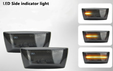 2x LED DYNAMIC SIDE DIRECTION INDICATORS AMBER SMOKE LENS OPEL E4 MOT TÜV ITV