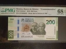2019, Mexico, 200 Pesos, 68 Superb Gem, Commemorative, PMG, EPQ, Unc.