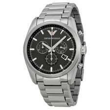 Emporia Armani AR6050 Sportive Stainless Steel Chronograph Mens Dress Watch NWT