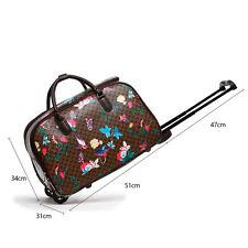Women's Travel Bag Holdall  Luggage Meium/ Large Weekend Handbag Wheeled Trolley