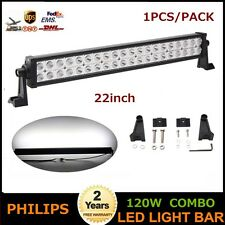 "Philips 22"" 120W LED Light Spot Flood Bar Offroad Truck BOAT SUV UTE POD Auto"