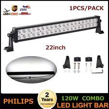 Philips 22inch 120W LED Light Bar Spot Flood Offroad Lamp Truck BOAT SUV UTE POD