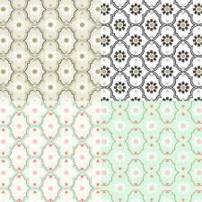 As Creation Cozz Pastel Retro Floral Ethnic Hearts Motif Smooth Wallpaper