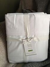 Pottery Barn PB Classic QUEEN Sheet Set WHITE $149 100% Cotton Percale 400 TC