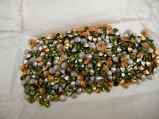 72 swarovski rhinestones,24ss olivine /foiled #1028 mixed with #1012