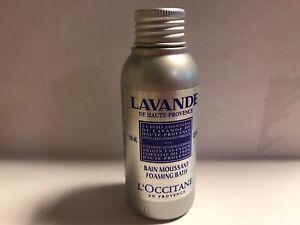 L'OCCITANE Lavender Relaxing Foaming Bath Travel Size 3.4 fl oz/100 ml
