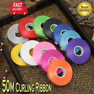 50 Meter Wedding Gifts Wrapping Balloon Curling Ribbon Party Present Strings  SI