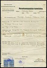 p156 - ESTONIA 1941 Tallin Municipal REVENUE STAMPS on Document. Fiscal