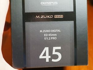 Olympus M. Zuiko Digital ED 45mm F/1.2 PRO Lens  Brand new in unopened box.