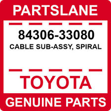 84306-33080 Toyota OEM Genuine CABLE SUB-ASSY, SPIRAL