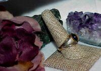 Vintage Men's Gold Vermeil Sterling Silver Tiger's eye Ring Sz 10 Traditional