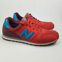 Men's NEW BALANCE '373' Sz 9.5 US Shoes Red Blue Lethr VGCon | 3+ Extra 10% Off