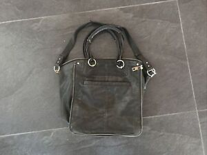 gorgeous witchery large leather tote bag black