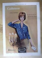 DEBENHAMS BALLANTYNE CASHMERE SWEATERS ORIGINAL VINTAGE ADVERT FROM 1961