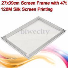 27x39cm Silk Screen Printing Aluminum Frame with 47T 120 Mesh Printing Screen