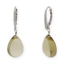 Castellano Jewels Pendientes con Cuarzo Citrino y Cristal de Swarovski Plata 925