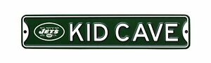 "New York Jets NFL Metal Kid Cave 16"" X 3.25"" Sign - New"