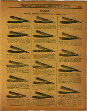 1915 PAPER AD HSB Hibbard Spencer Bartlett & Co Straight Razor Mohican Our Daisy