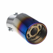 Car Rear Round Exhaust Pipe Tail Muffler Tip Colorful 85x63mm Stainless Steel