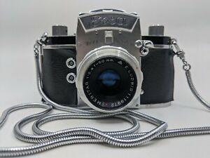 Exa Ihagee Dresden 35mm Film Camera with 50mm f/2.9 Meritar Lens Exakta