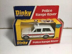 Dinky 254 Police Range Rover In Original Box