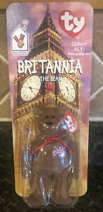 Happy Meal TY Beanie Babies Britannia the Bear Vintage 1999 Mcdonalds