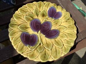 Sarreguemines French Plum & Leaf Plate
