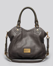 NWT MARC by MARC JACOBS Classic Q Fran Leather Hobo Shoulder Bag Tote DARK GRAY