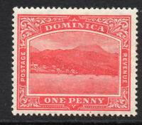 Dominica 1 Penny Carmine Red Stamp c1908-20 Mounted Mint (251)