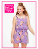 *NEW* JUSTICE GIRLS SIZE 8 10 12 14 PURPLE FLORAL CROCHET FLOUNCE ROMPER